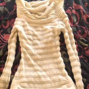 Size S, White and Sheer, Bebe Turtleneck, Holiday